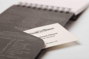Reporterblock von Field Notes, USA, Detail, hinteres Einsteckfach,