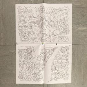 Geschenkpapier, sieben, Zeitungspapier, Dinge, linear,