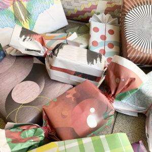 Geschenkpapier, made im Umwerk, 12 Blätter, Muster,