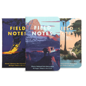 3er-Set Notebooks, Field Notes, National Park Edition, F