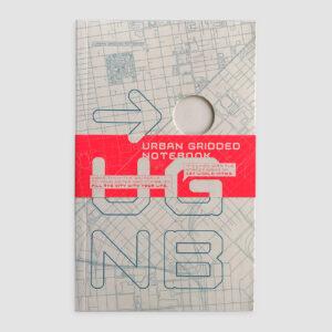 Urban Gridded Notebook, Stadtpläne der Welt, fein linear eingedruckt,
