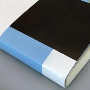 Notizbuch, grafischer Umschlag, Recyclingpapier, 10 x 15 cm,