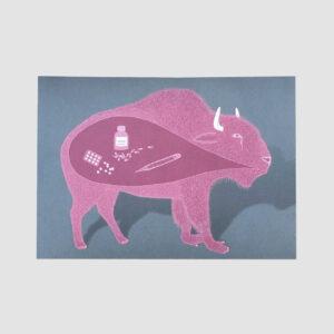 Postkarte, Gute Besserung, illustriert, DinA 6, Lisa Röper,