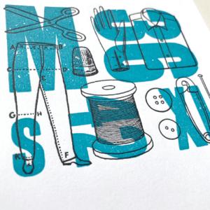Serrote Notebook, Papel Esquico, Detail Front, Buchdruck, limitiert,