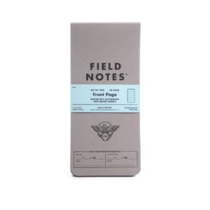Field Notes, Reporterblock, Front Page, grauer Einband, schlankes Format,