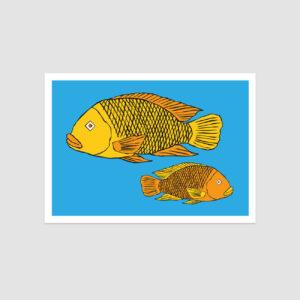 UMWERK - Sternzeichen Postkarte FISCHE