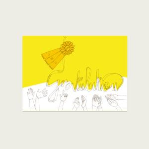 UMWERK - Postkarte GRATULATION, klatschende Hände, Illustration,