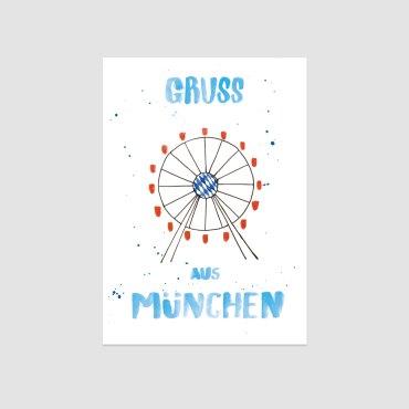 UMWERK – Postkarte GRUSS AUS MÜNCHEN