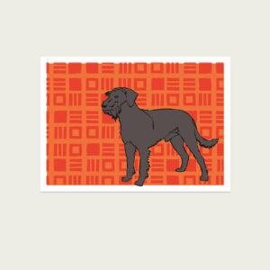 UMWERK - Tierkreiszeichen Postkarte HUND