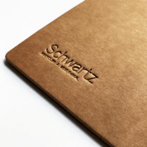Schwartz Klemmbrett, braun