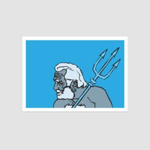 UMWERK - Sternzeichen Postkarte WASSERMANN