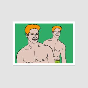 UMWERK - Sternzeichen Postkarte ZWILLING