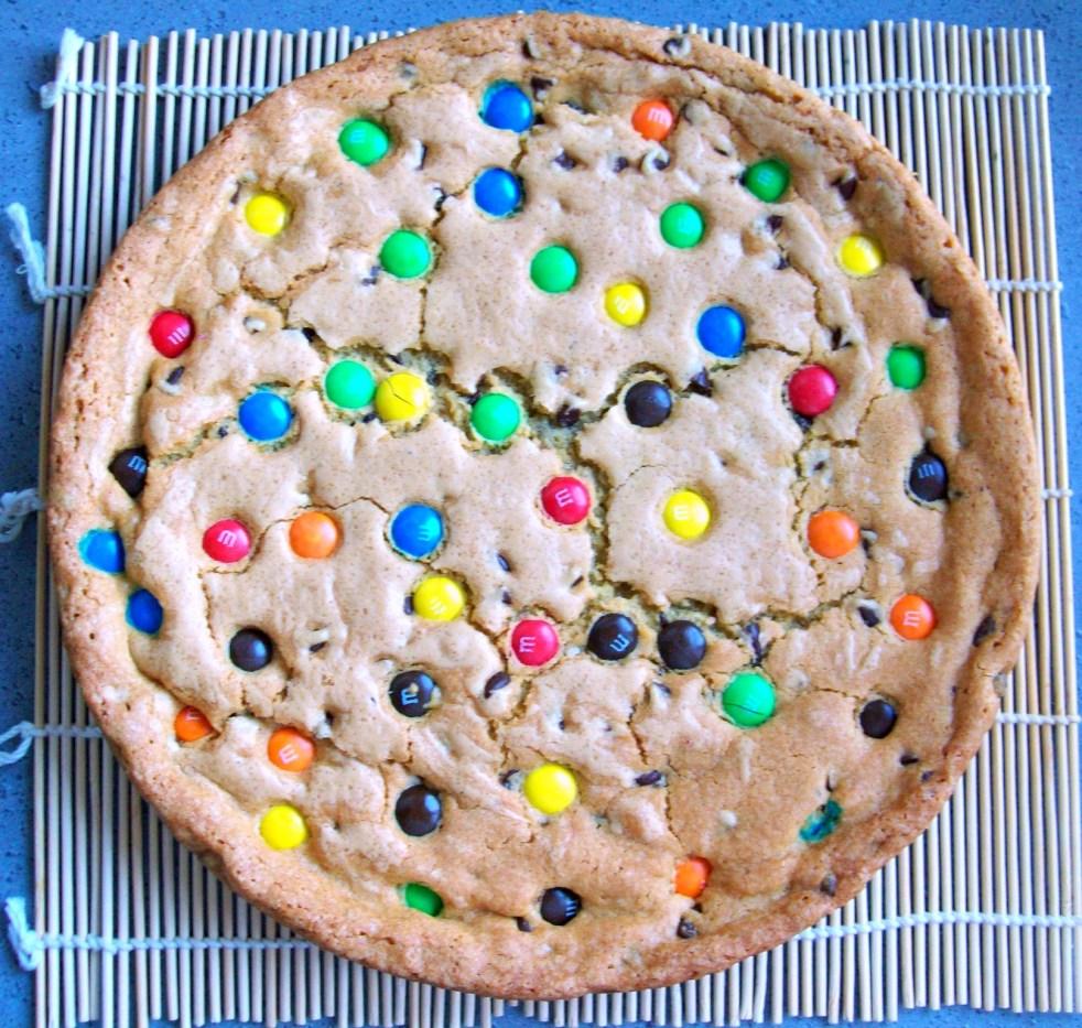 Biscuit vanille chocolat et M&M's