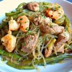 Bami au porc et aux crevettes