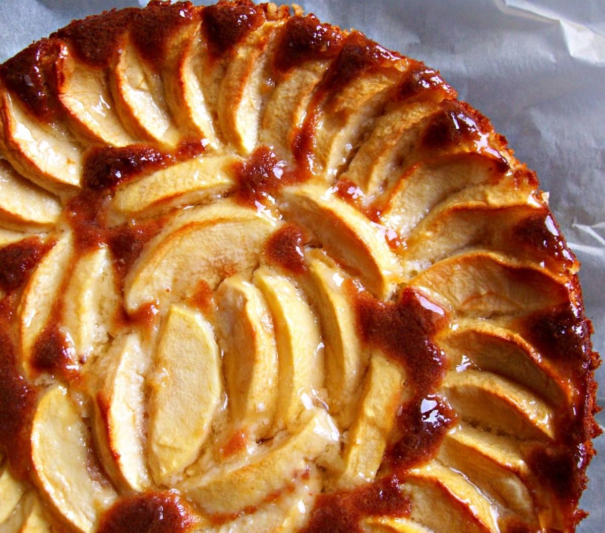 Gâteau à la pomme et à la frangipane