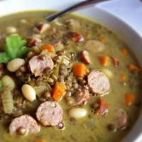 Soupe de lentilles vertes au curry