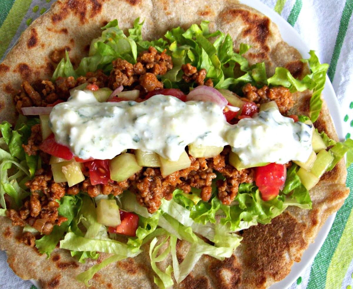 Tacos épais à la grecque
