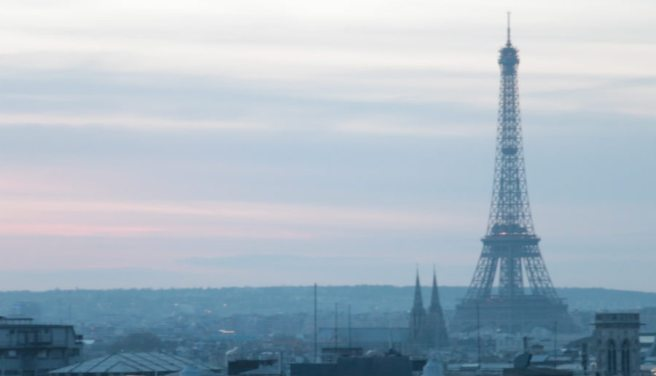 There are plenty of places to enjoy views of the Tour Eiffel all over Paris. On a clear day you can even see it (albeit at a distance) from Sacré Coeur. This shot was taken from the top of the Pompidou Museum at their popular and sceney restaurant, Le George.`