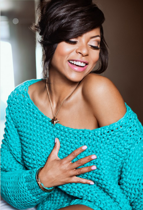 TarajiPHenson_Black_Hair_Updo_Side_Swept_Bangs