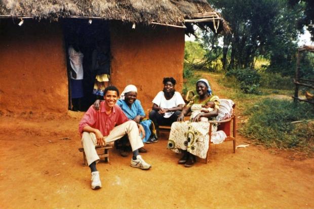 Obama during a visit to Kenya in 1987