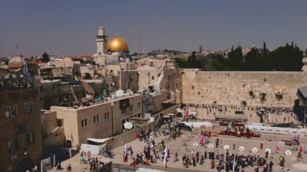 "The Western Wall and the Dome of the Rock are two important monuments in Jerusalem. The Dome of the Rock has deep religious meaning for Christians, Jews and Muslims. Per Wikipedia, the Western Wall has been ""site for Jewish prayer and pilgrimage for centuries."""