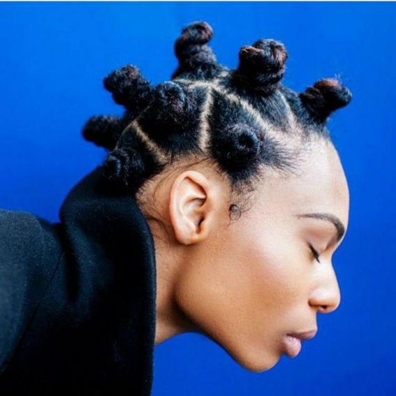 Black_Hair_Bantu_Knots_Natural_Honey_Highlights