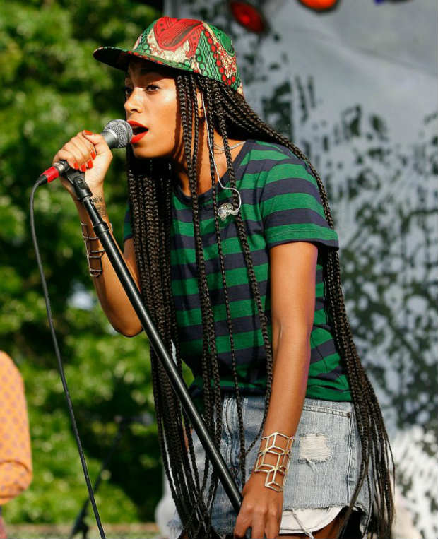 Solange Long Box Braids with Cap