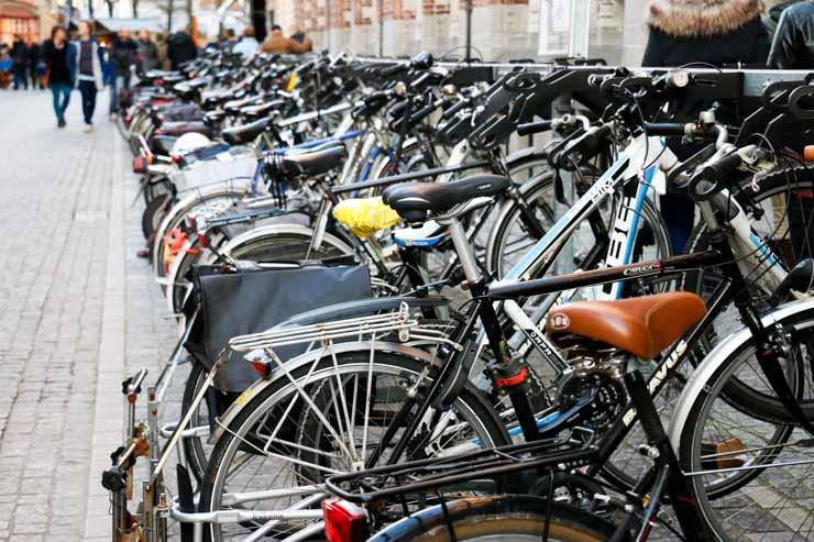 Bikes in Bruges