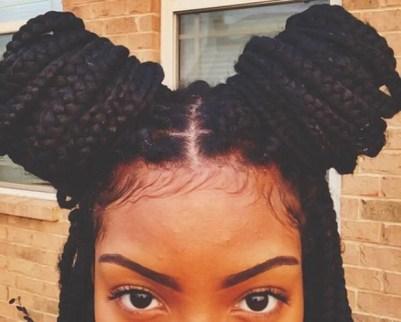 how to put long box braids in a bun