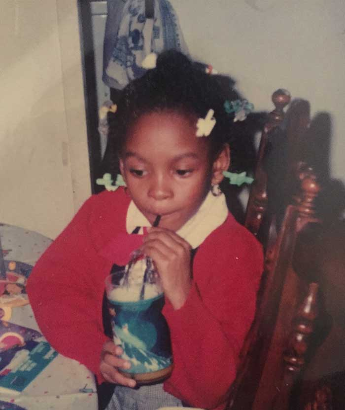 Chadette: I was six years old. My mom surprised me with an after school bday party. Clearly I loved Pocahontas and hair bubbles.