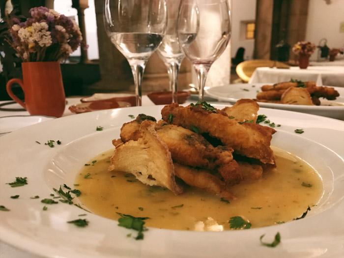 Dinner at the Pousada Convento Vila Viçosa