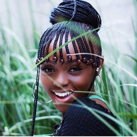 summer_hairstyles_blackwomen_thin_braids_bangs_beads