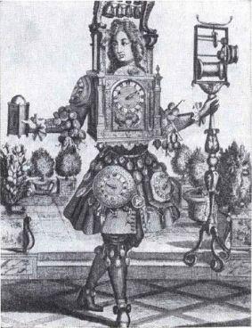 Символ производства часов (гравюра XVIII века)