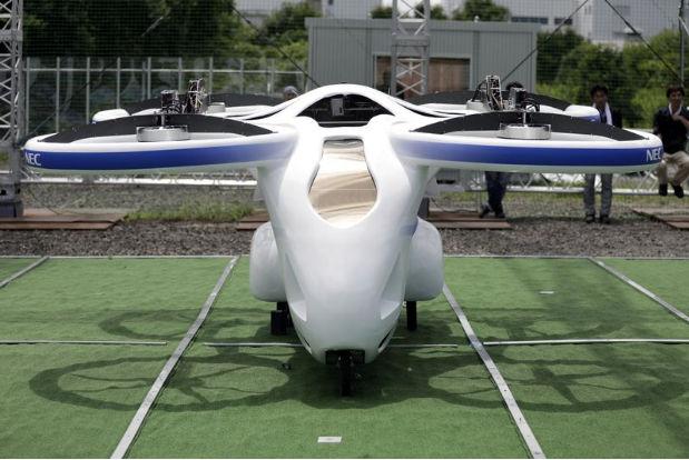 В Японии протестировали  первый полет летающего автомобиля 4