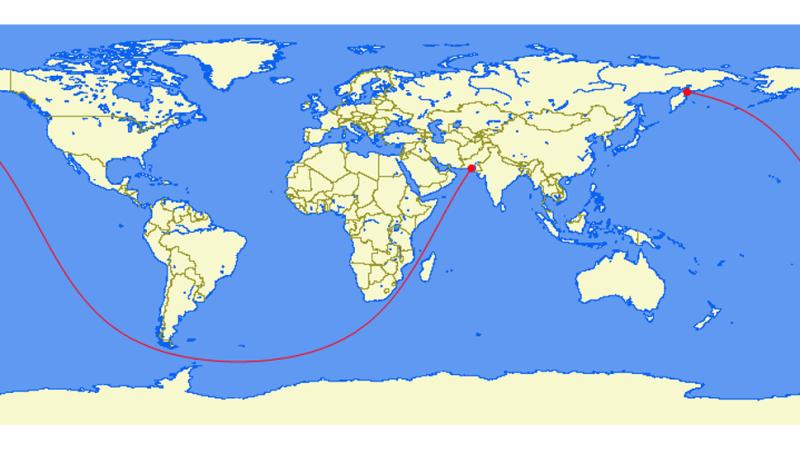 Где пролегает самый длинный морской путь, по которому можно проплыть без смены направления 3