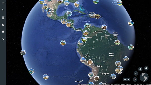 Google Earth превратили в синоптик прогноза погоды 3