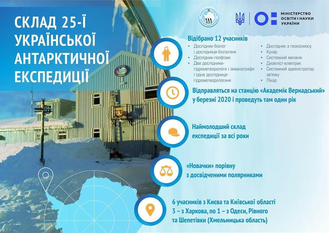 25-я Украинская антарктическая экспедиция отвезёт на Южный континент спецмарку 3