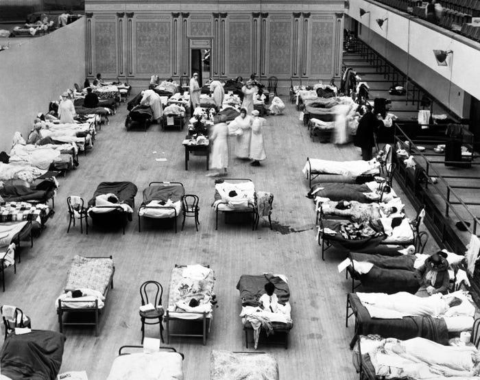 Как пандемия гриппа 1918 года поставила мир на колени 8