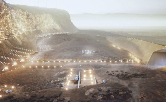 Каким будет первый город на Марсе: архитекторы показали план марсианского мегаполиса (видео) 8