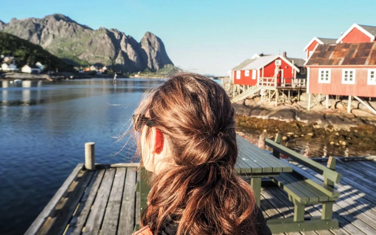 Reine dans les lofoten en Norvège