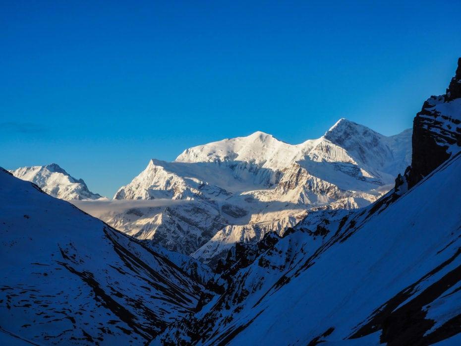 Le sommet d'un des Annapurnas