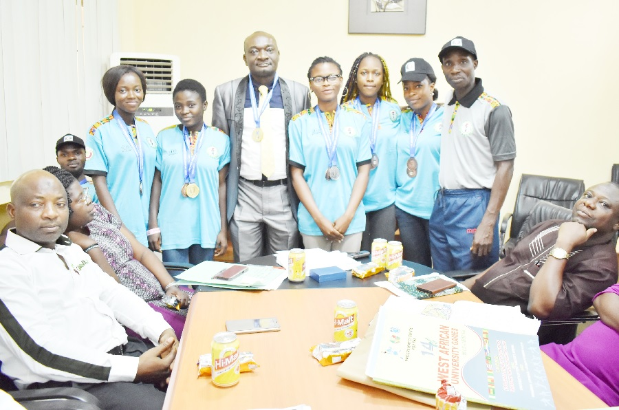 VC Welcomes FUNAAB WAUG Heroes ...Presents Medals, Commends Athletes