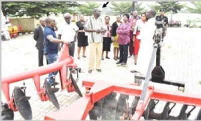 FUNAAB bids Goodbye to hoe and cutlass Agriculture  - VC Distributes Agric machines to College and Farms