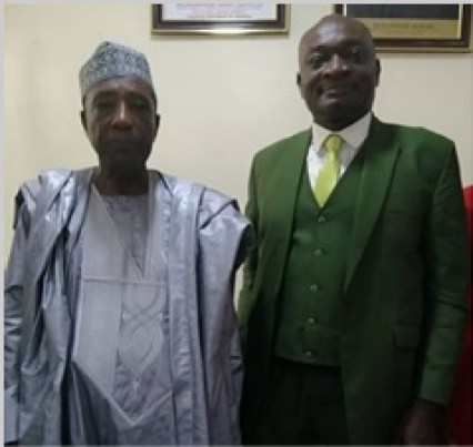 The Honourable Minister of Agriculture and Rural Development, Alhaji Sabo Nanono (Left), with the Vice-Chancellor, Prof. Kolawole Salako