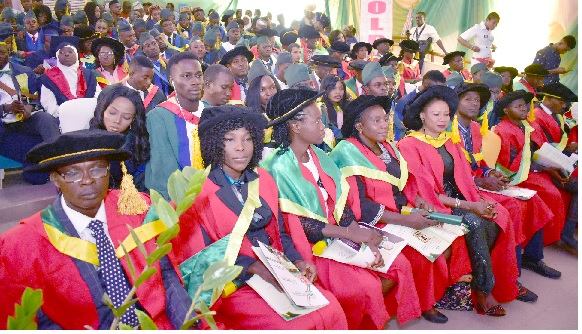 A cross-section of graduands at the 27th Convocation Ceremony.