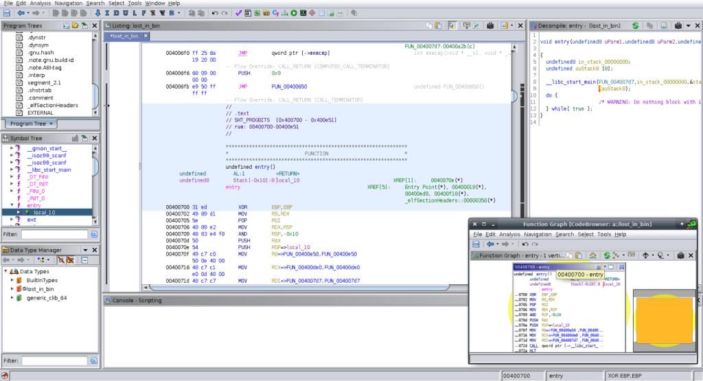 Análisis preliminar de Ghidra, el framework de reversing de la NSA