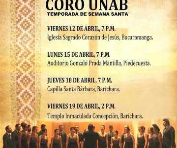 Coro UNAB en el Festival Internacional de Coros y Música Sacra de Piedecuesta