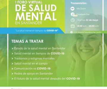 I foro virtual de salud mental en Santander