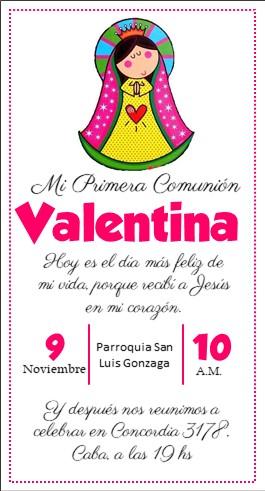 invitacion primera comunion