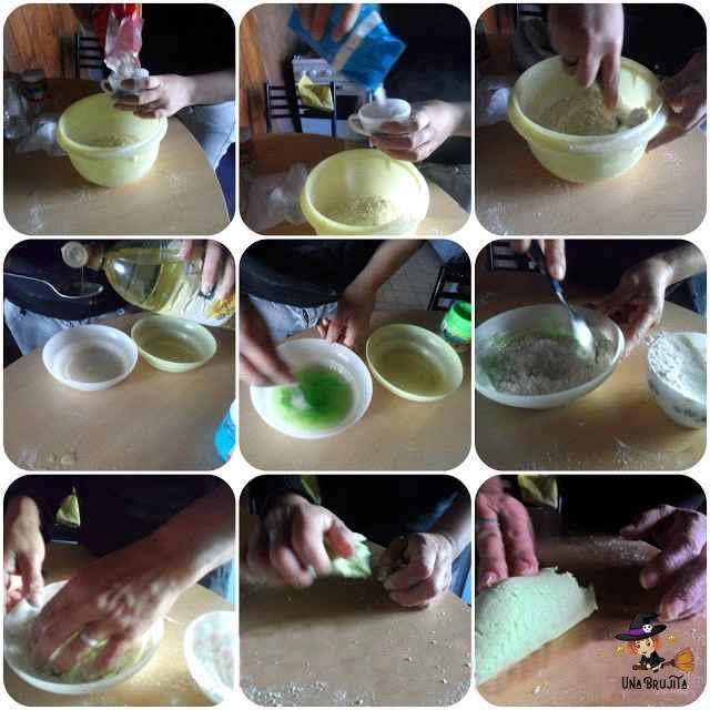 masa de harina sin coccion